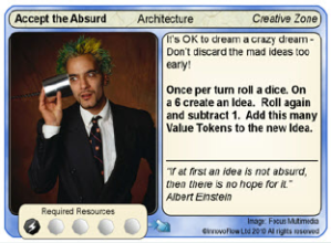 Accept the Absurd game card